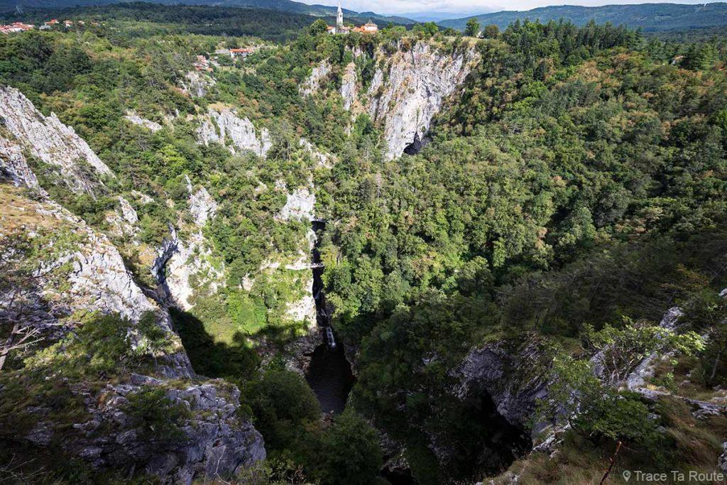 Škocjan caves abismo na Eslovênia - Škocjan cavernas - Škocjan caves na Eslovênia