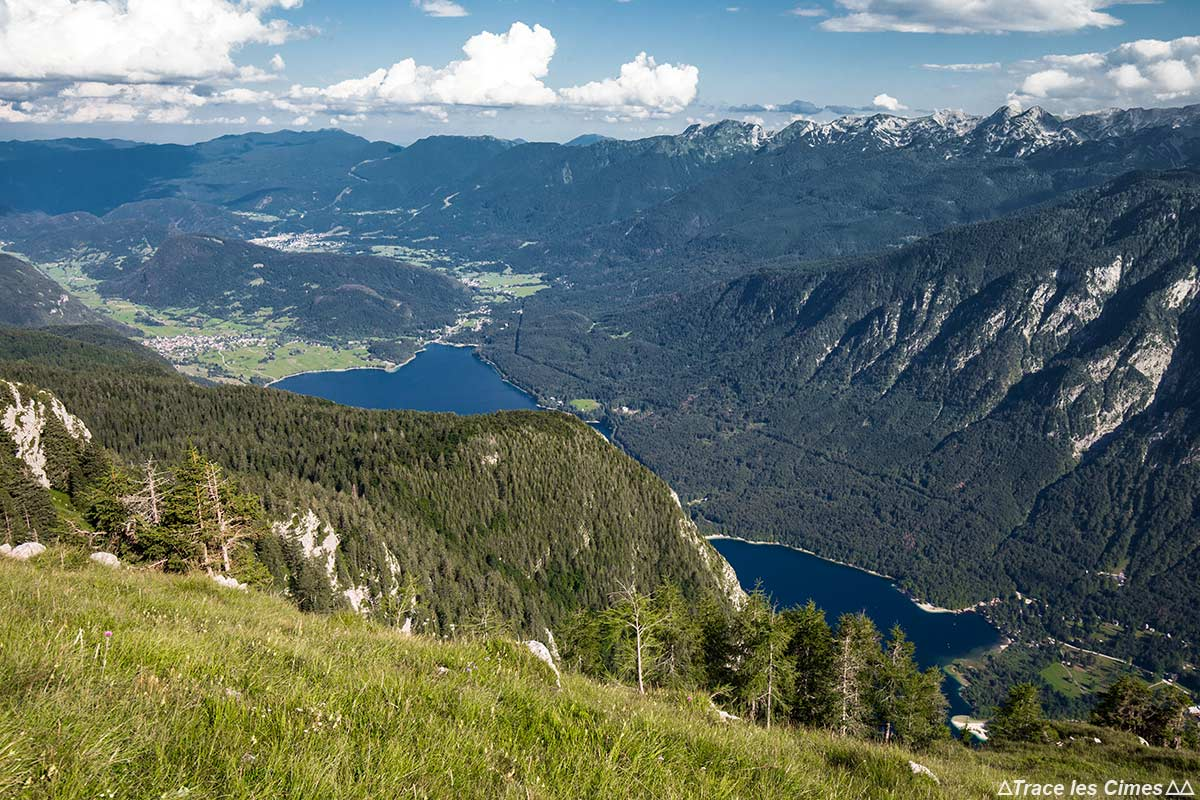 Lago Bohinj do topo da montanha Pršivec, Eslovênia - Lago Bohinj, Eslovênia / Bohinjsko jezero, Eslovênia