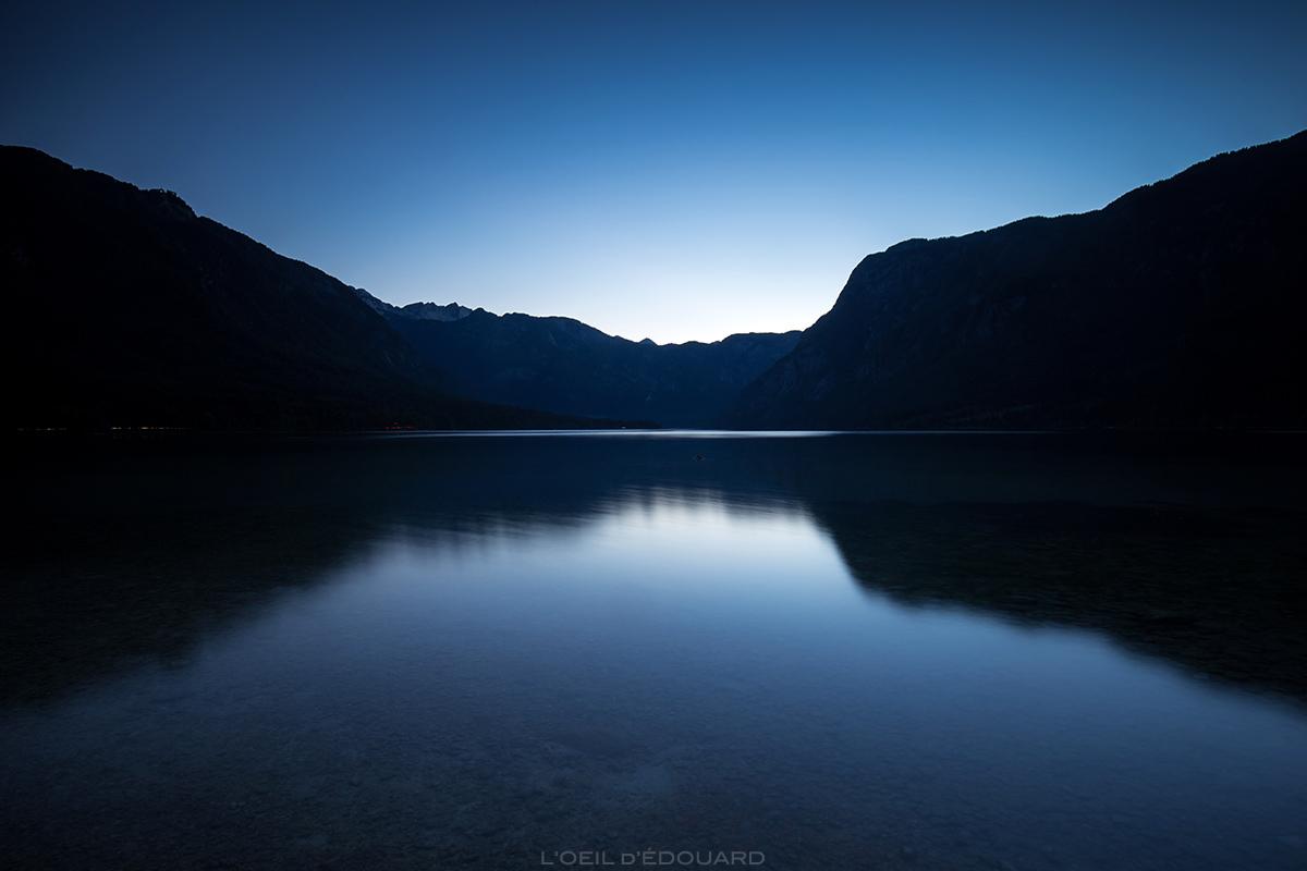 Crepúsculo no Lago Bohinj, Eslovênia - Lago Bohinj, Eslovênia / Bohinjsko jezero, Eslovênia