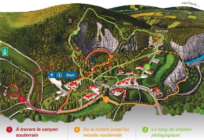 Rota das Cavernas de Škocjan na Eslovênia - Cavernas de Škocjan na Eslovênia © Organismo público Parque das Cavernas de Škocjan