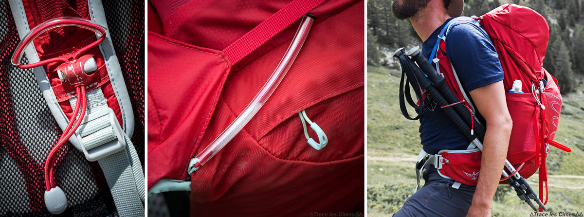 Revisão da mochila Osprey Talon de 44 litros: Sistema de montagem em poste Stow-on-the-Go ™ Trekking