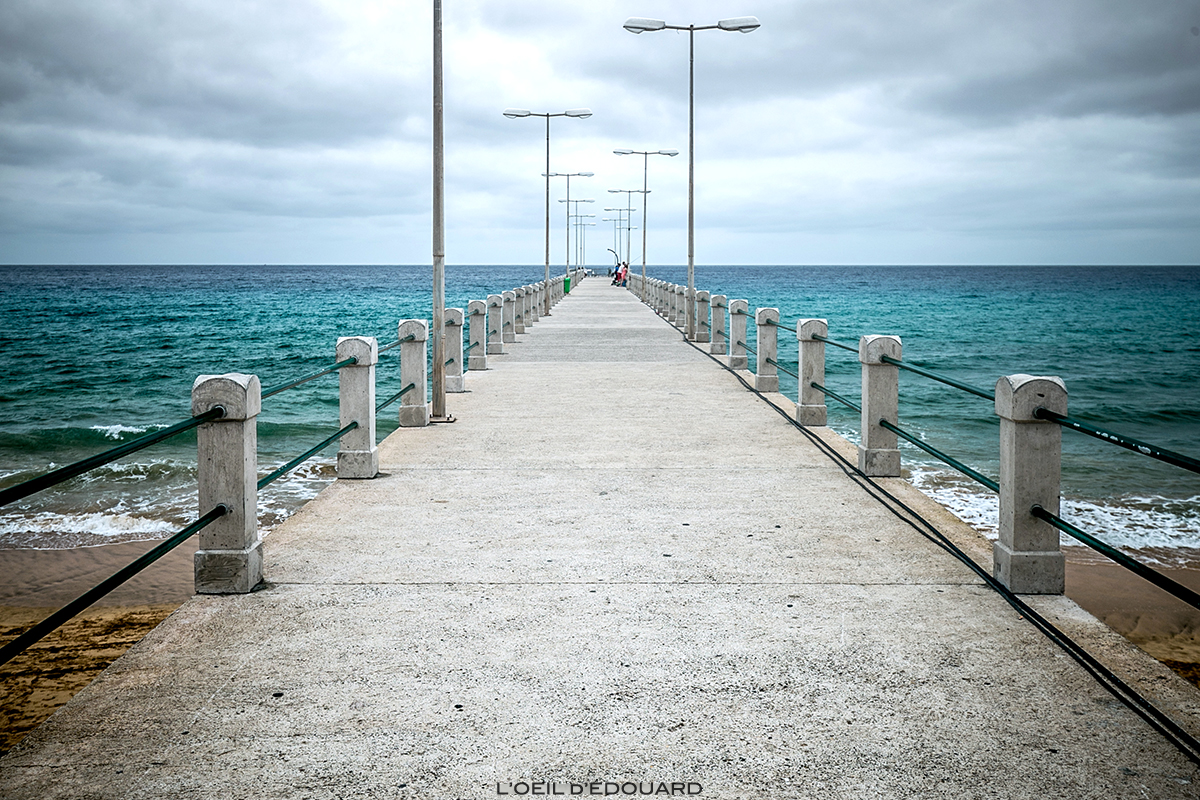 Pontão no Oceano Atlântico - Vila Baleira, Cais do Porto Santo, Madeira / Madeira