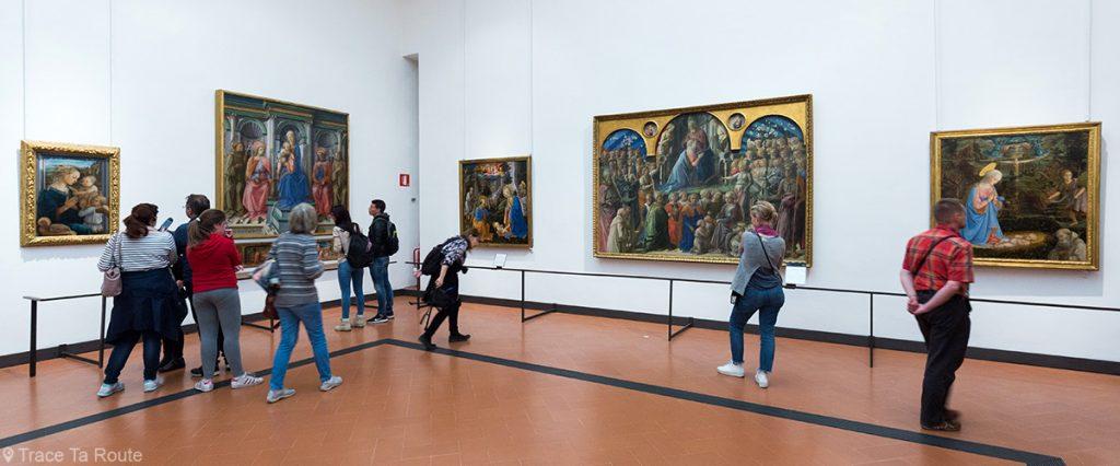 Sala 8 do Escritório do Museu da Galeria de Florença (Galeria Uffizi em Florença): Masaccio, Masolino, Lippi