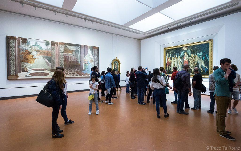 Sala Botticelli do Museu Galeria dos Escritórios de Florença (Galleria del Uffici)