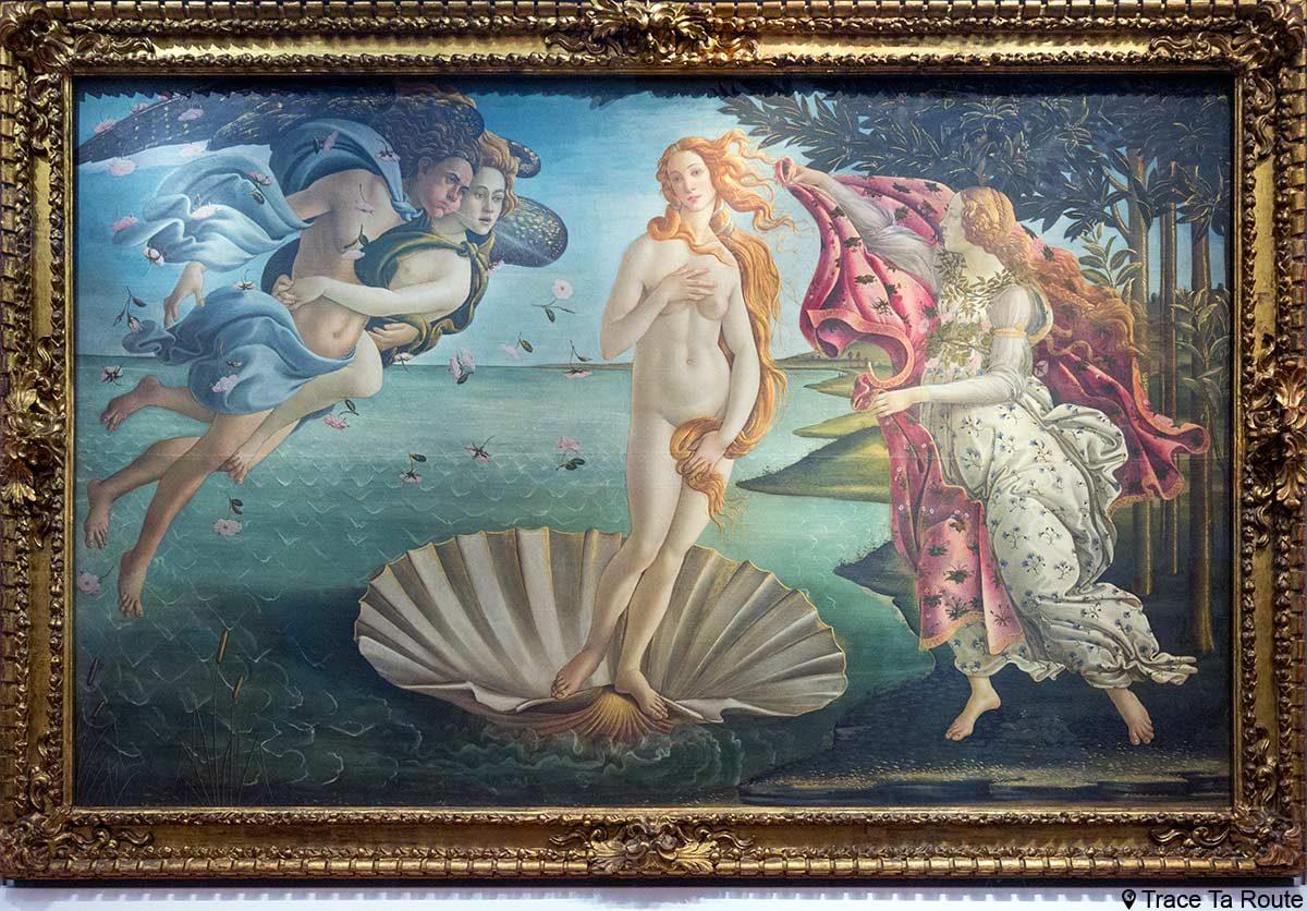 O Nascimento de Vênus (1485) Alessandro BOTTICELLI - Museu da Galleria degli Escritórios em Florença (Galeria Uffizi em Florença)