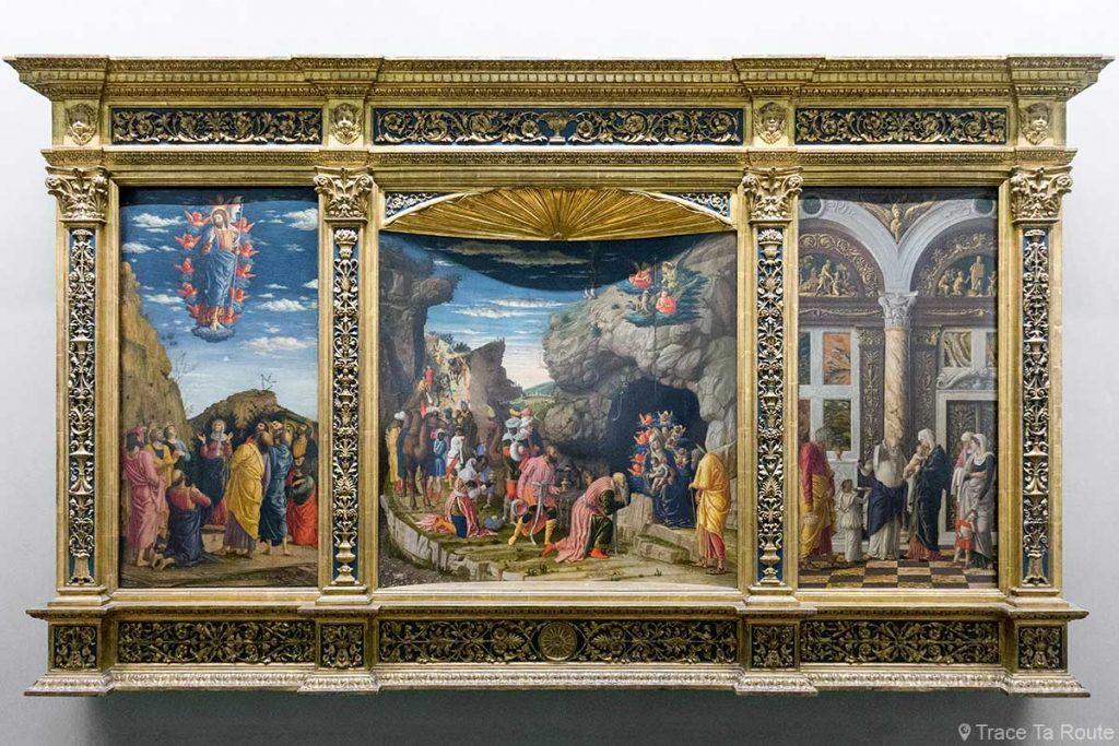 Cenas da vida de Cristo: Epifania, circuncisão, ascensão (1463-1464) Andrea MANTEGNA - Museu Uffizi de Florença (Galeria Uffizi de Florença)