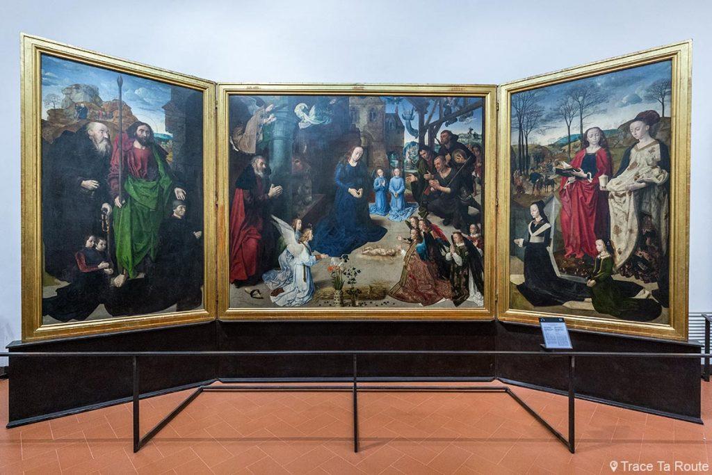 A Adoração dos Magos (1476-1478) Hugo VAN DER GOES - Museu da Galeria Office Florence (Galeria Uffizi Florence)