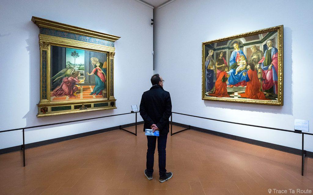Sala Botticelli do Museu da Galeria Uffizi em Florença (Galeria Uffizi em Florença)