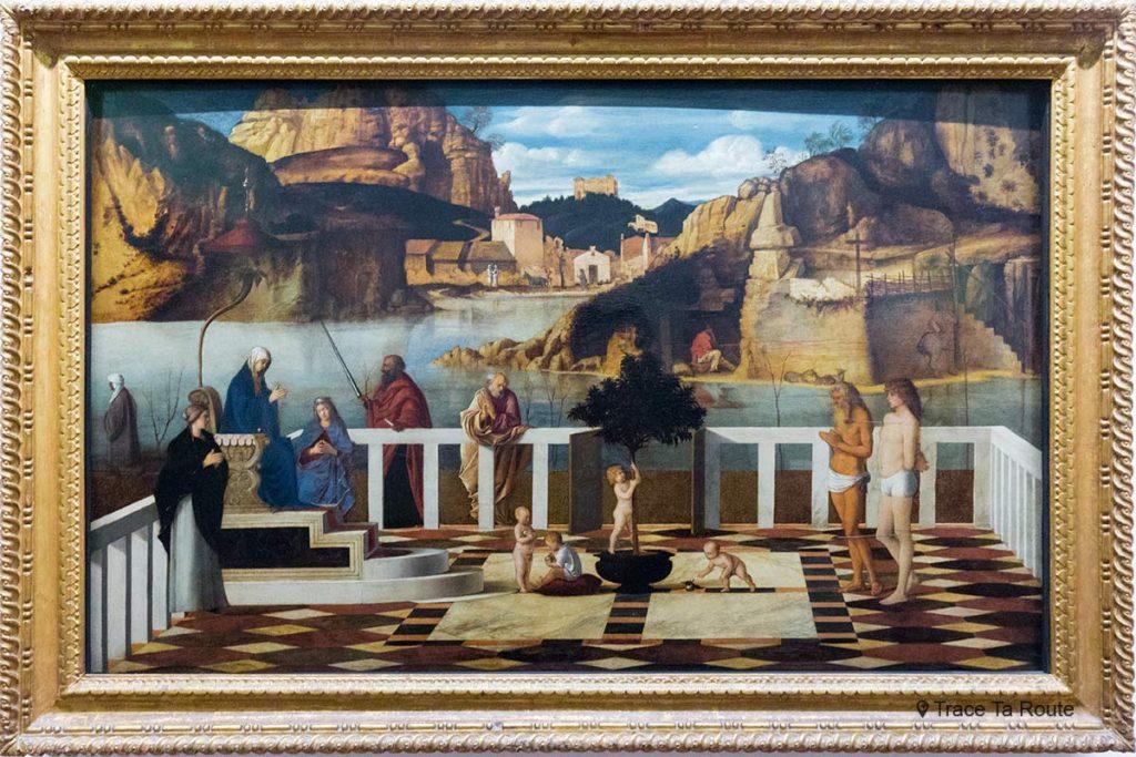 Alegoria Sagrada (1490-1499) Giovanni BELLINI - Museu da Galeria Uffizi de Florença (Galeria Uffizi de Florença)