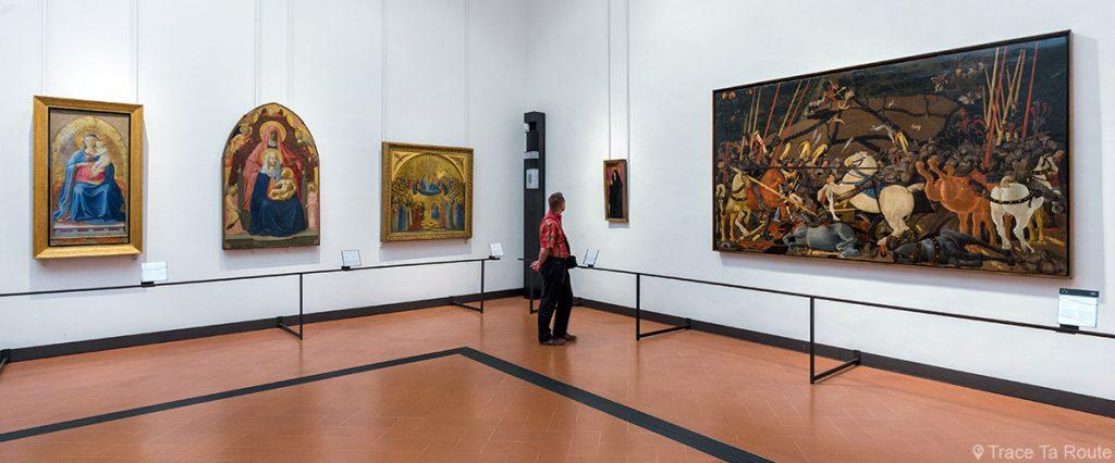 Sala 8 do Escritório da Galeria do Museu de Florença (Galeria Uffizi em Florença): Masaccio, Masolino, Bird