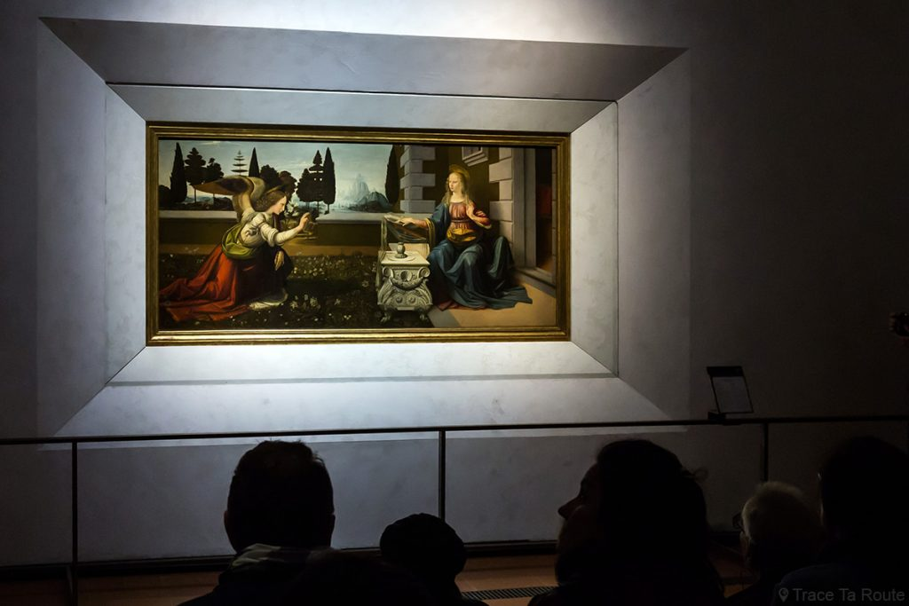 A Anunciação (1473-1475) Leonardo da Vinci - Museu da Galeria dos escritórios de Florença (Galeria Uffizi de Florença)