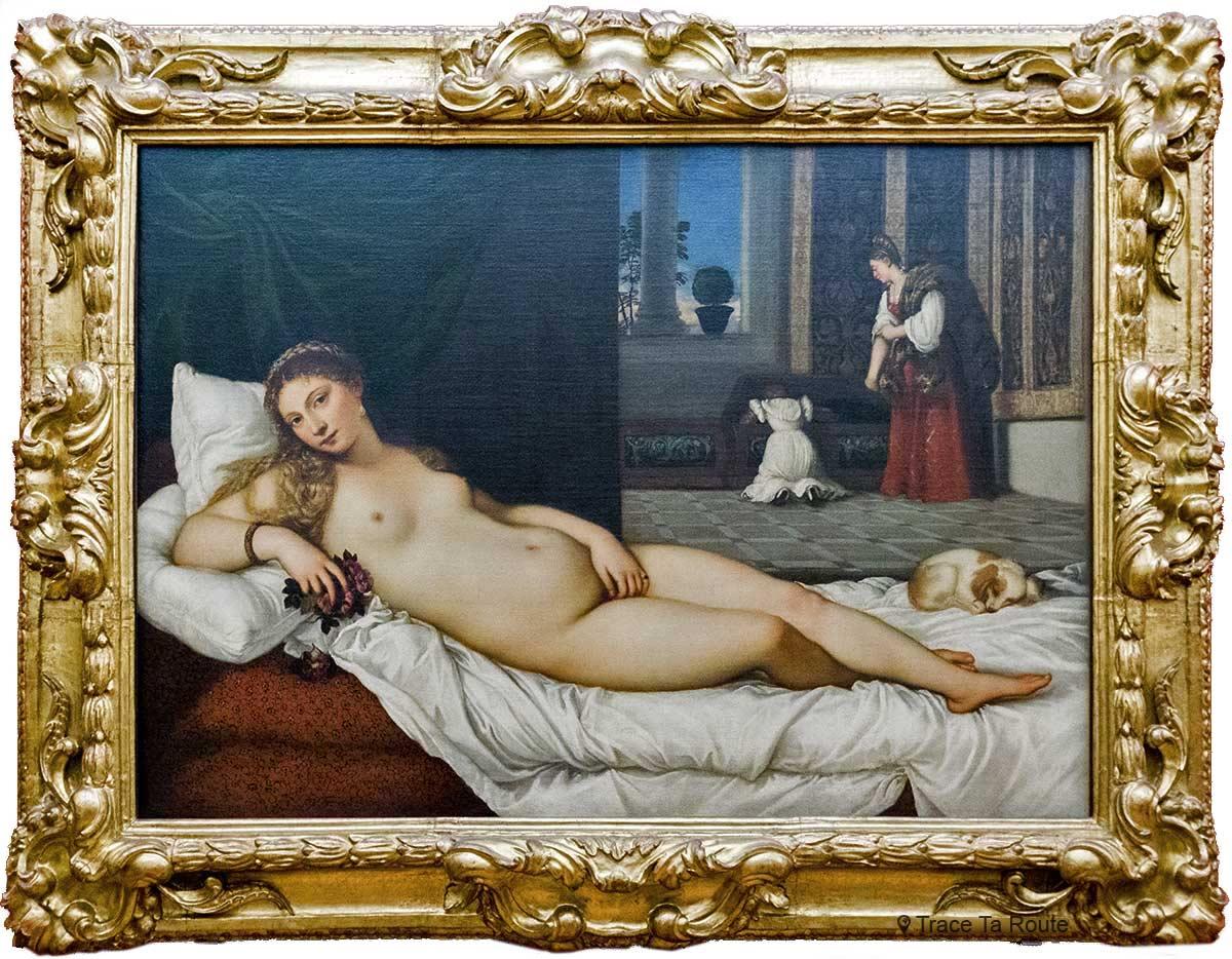 Vênus de Urbino (1538) TITIAN - Museu da Galeria Uffizi em Florença (Galeria Uffizi em Florença)