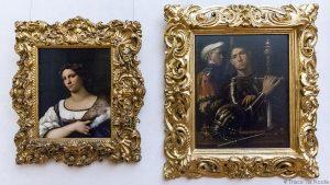 Pintura de retratos de GIORGIONE - Florence Office Gallery Museum (Uffizi Gallery em Florença)
