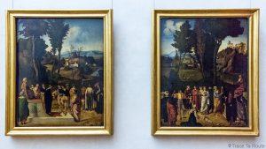 Pintura Sala de Pintura GIORGIONE - Museu da Galleria degli Bureaux em Florença Itália Galeria Uffizi Galeria de Florença Itália Museu de Belas Artes da Pintura