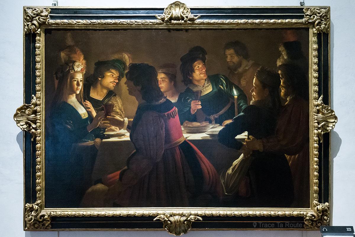 Jantar de casamento (1613-1614) Gherardo DELLE NOTTI - Museu da Galeria Uffizi em Florença (Galeria Uffizi em Florença)