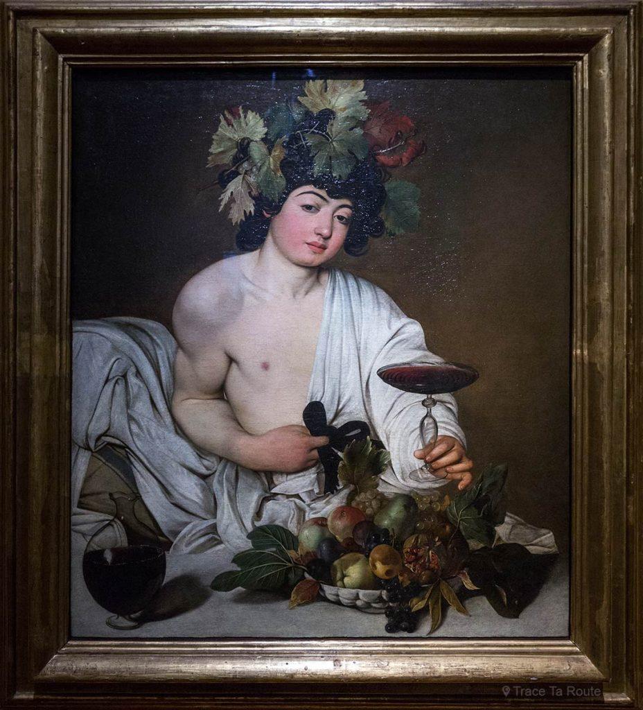 Bacchus (1597-1598) IL CARAVAGGIO - Museu da Galeria Office Florence (Galeria Uffizi em Florença)
