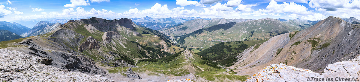 Vista das Queyras da Crête de la Blavette (Altos Alpes)