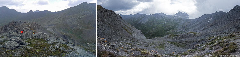 O Col de Saint-Véran, vista do Col Agnel, Queyras (Hautes-Alpes)