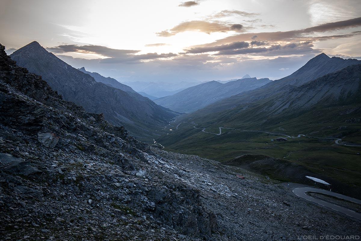 Pôr do sol no Col Agnel, Queyras (Altos Alpes)
