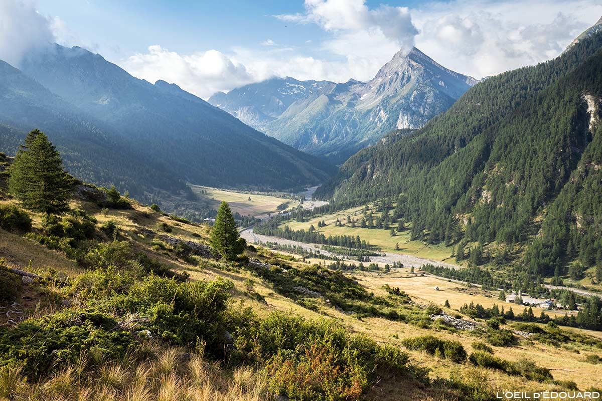 Vallon de Ristolas com La Monta e La Taillante ao fundo - Queyras, Hautes-Alpes
