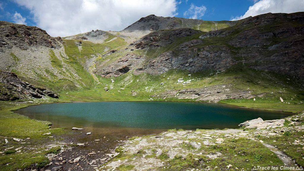 Le Petit Laus, Lacs du Malrif (lago de montanha) - Tour du Queyras GR 58, Hautes-Alpes