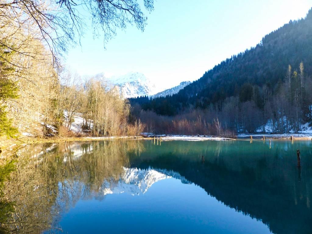 Lago Vallon em Haute-Savoie