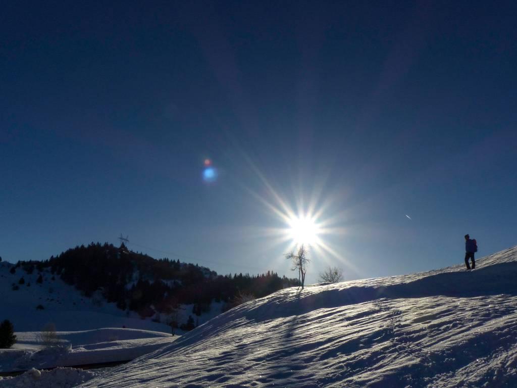 Curso de sobrevivência de inverno nos Alpes