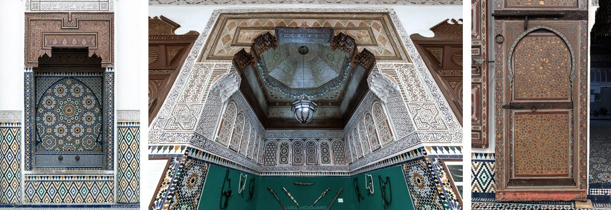 Visita do museu de Marrakech, Marrocos / Visita do museu de Marrakech, Marrocos
