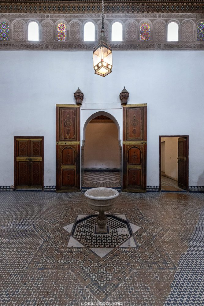 Interior do Bahia Palace em Marrakech, Marrocos / Visita a Marrakech, Marrocos