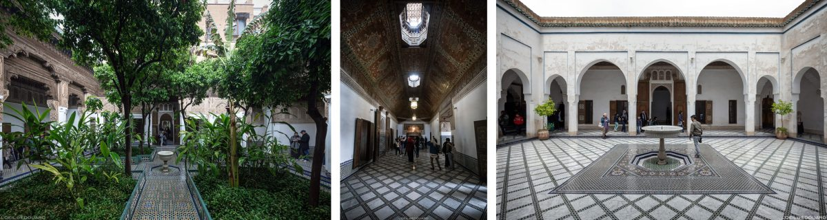 Courtyard Bahia Palace em Marrakech, Marrocos / Visite Marrakech Marrocos