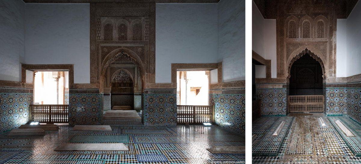 Pátio da bacia do Palácio Badi em Marraquexe, Marrocos / Marraquexe Maroc