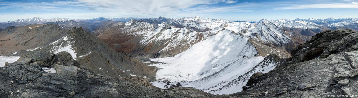 O Grande Traversière e o Gran Paradiso da Aiguille de la Grande Sassière, Alpi Grée, Montanhas Itália © L'Oeil d'Édouard - Todos os direitos reservados
