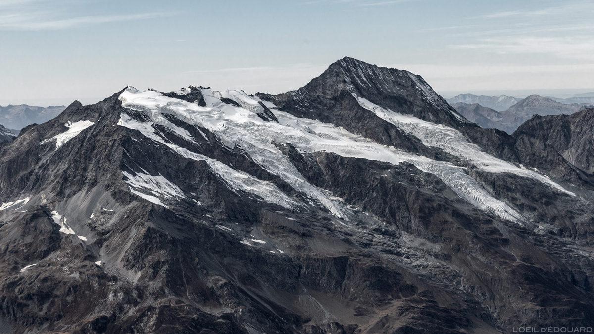 Mont Pourri, Maciço de la Vanoise, do topo da Aiguille de la Grande Sassière - Maciço de Savoie © L'Oeil d'Édouard - Todos os direitos reservados