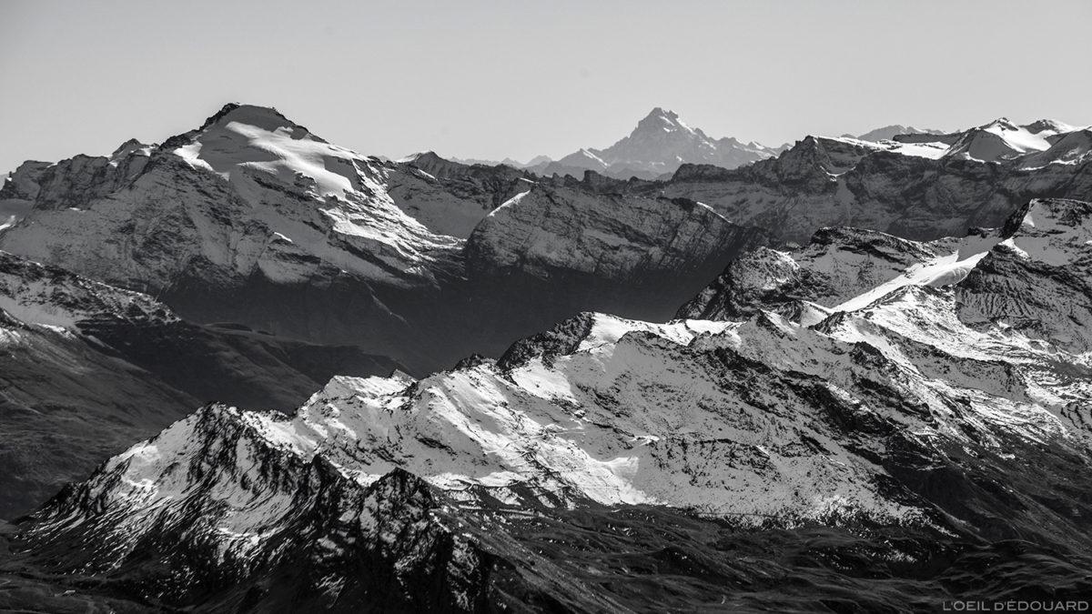 Pointe de Charbonnel e Mont Viso do topo da Aiguille de la Grande Sassière - Montagne Savoie © L'Oeil d'Édouard - Todos os direitos reservados