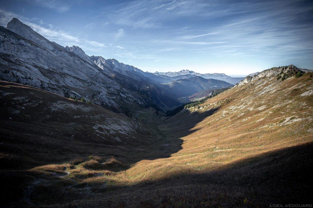 Les Lanches de Lormay do Col de l'Oulettaz em Aravis / Haute-Savoie, Alpes