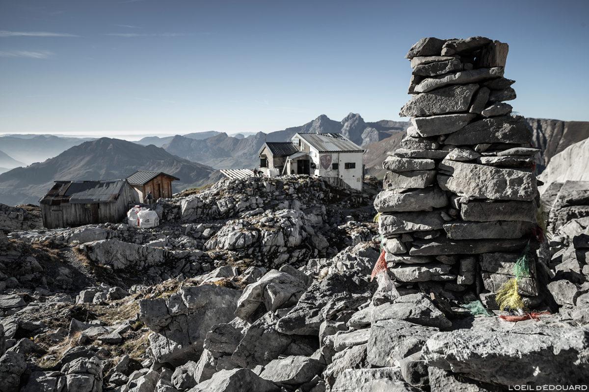 O refúgio Gramusset em Pointe Percée, Aravis / Haute-Savoie © L'Oeil d'Édouard - Todos os direitos reservados