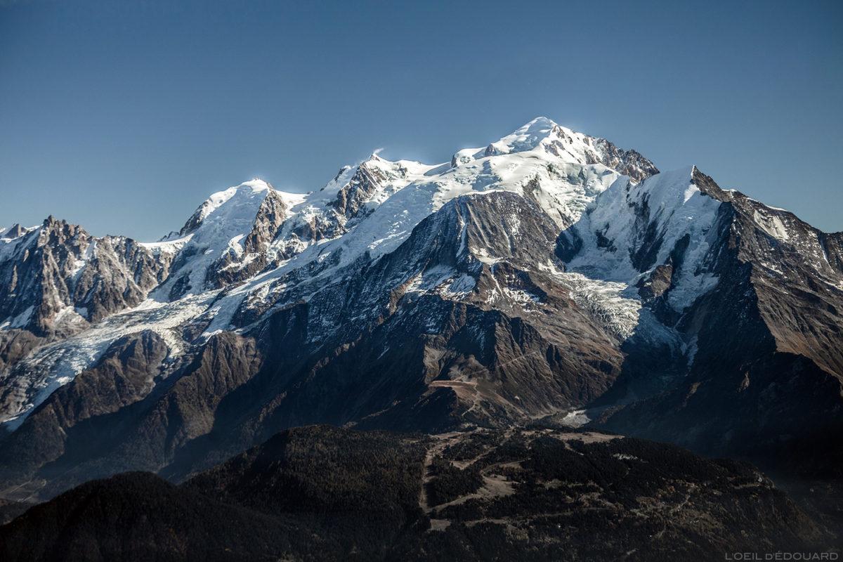 Monte Branco do cume de Pointe Percée, Alpes da Alta Sabóia