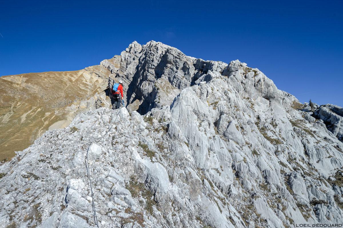 Via ferrata do Tour du Jallouvre: cume do cume © L'Oeil d'Édouard - Todos os direitos reservados