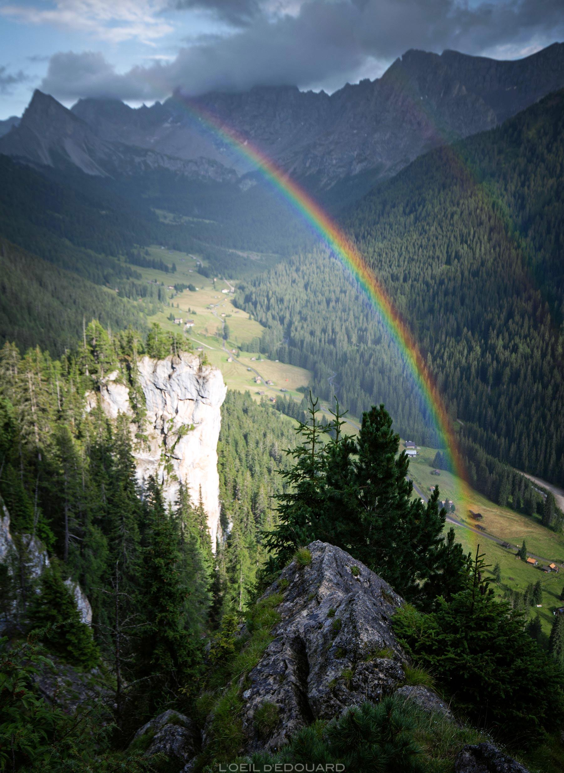 Arco-íris nas montanhas de Val San Nicolò Dolomitas Itália / Arco-íris nas montanhas Dolomitas Itália Itália © L'Oeil d'Édouard - Todos os direitos reservados