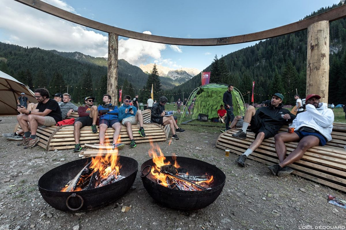 Festival North Face Mountain 2018 em Val San Nicolo nas Dolomitas, Itália / Dolomitas Itália Itália