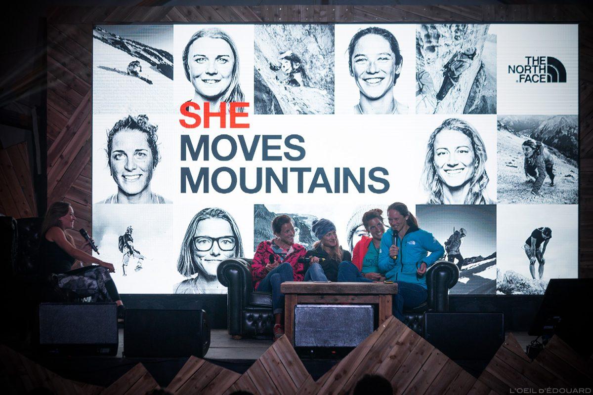 Mova a conferência para as montanhas no North Face Mountain Festival 2018 em Val San Nicolo nas Dolomitas, Itália / Dolomitas Itália Itália