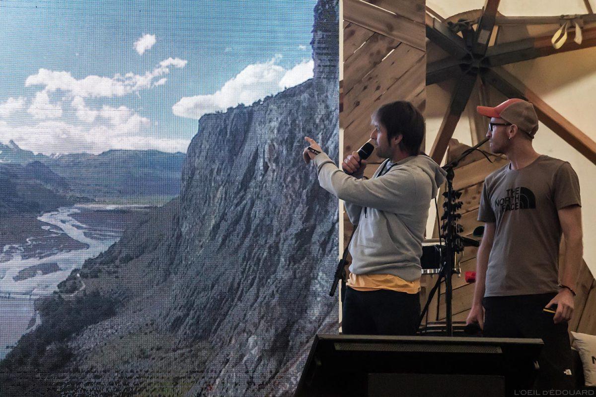 Irmãos Iker e Eneko - Conferência 4 Elementos no Festival North Face Mountain 2018 em Val San Nicolo / Los Quatros Hermanos Eneko Elementos Irmãos