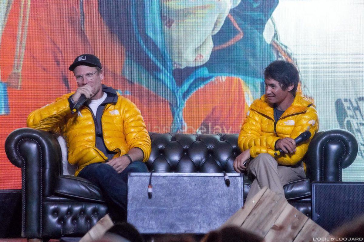 Conrad Anker & David Lama - conferência 4 Elements no North Face Mountain Festival 2018 em Val San Nicolo