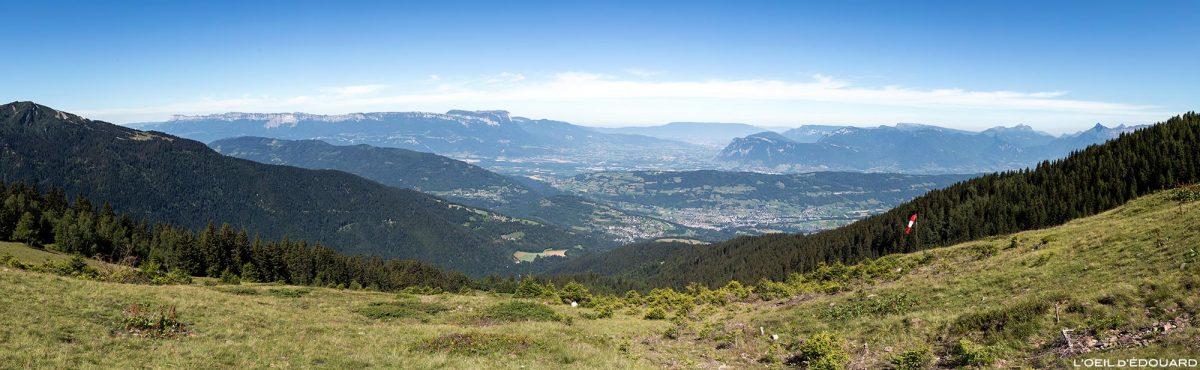 Val Pelouse, Belledonne: vista de Chartreuse, Chambéry e Bauges