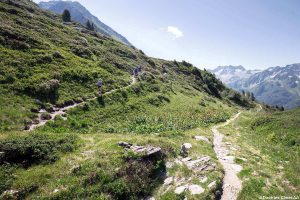 Excursão ao Col de la Perrière sob os Grands Moulins em Belledonne