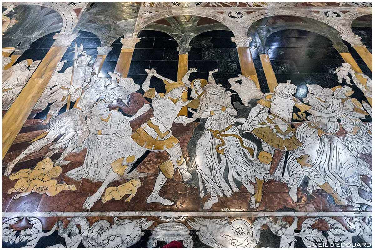 Chão de mármore na Catedral de Siena - Calçada Dom de Siena (Santa Maria Assunta): O massacre dos inocentes, Matteo di Giovanni