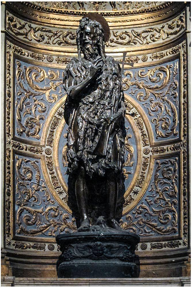 Escultura de São João Batista, Donatello - Capela de São João Batista Catedral de Siena - Capela da Catedral de São João Batista Catedral de Siena (Santa Maria Assunta) Escultura de São João Batista, Donatello