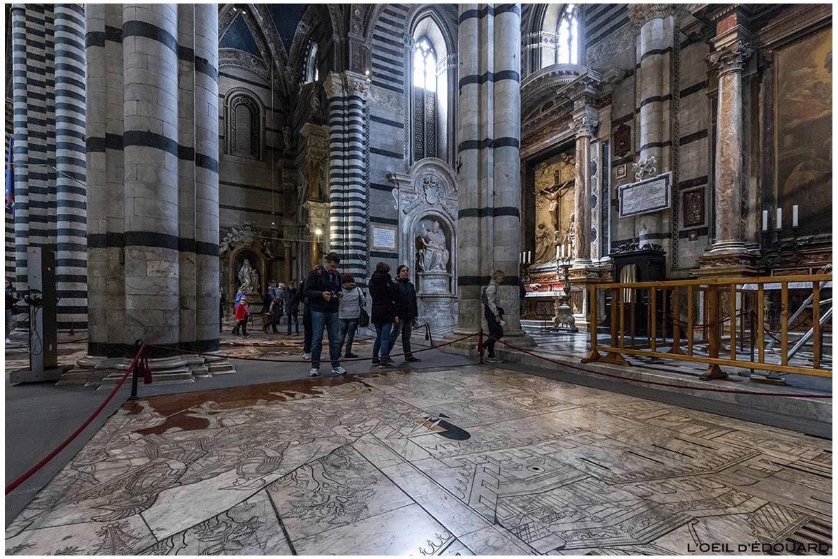 Pavimento de mármore na Catedral de Siena - pavimento da Catedral de Siena (Santa Maria Assunta): História de Judith, Francesco di Giorgio Martini