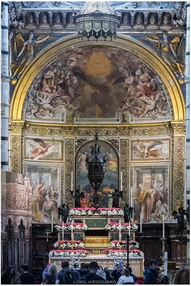Altar-mor da Catedral de Siena - Altar-mor da Catedral de Siena (Santa Maria Assunta), Baldassarre Peruzzi