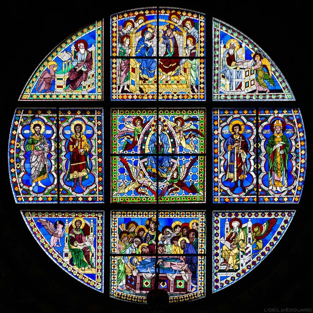 Janela apsidal da Catedral de Siena - Vitral da Catedral de Siena (Santa Maria Assunta)